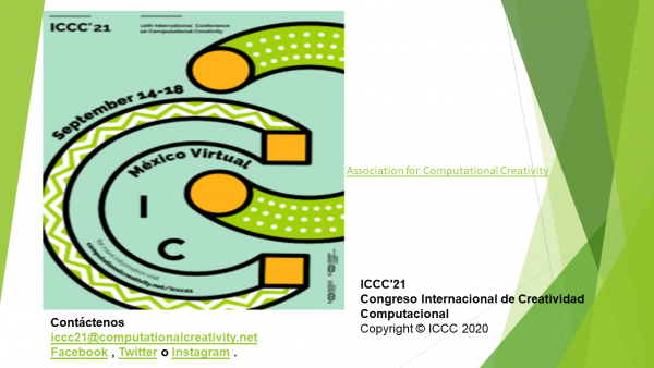 Póster 12th International Conference on Computational Creativity ICCC´21